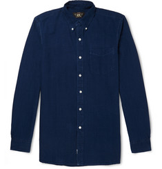 RRL Slim-Fit Button-Down Collar Indigo-Dyed Cotton Oxford Shirt