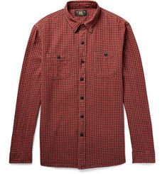 RRL Reliance Buffalo-Checked Cotton and Linen-Blend Shirt