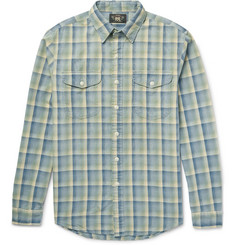 RRL - Slim-Fit Checked Cotton-Flannel Shirt