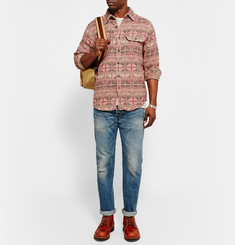 RRL - Slim-Fit Patterned Cotton-Jacquard Shirt