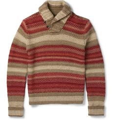 RRL - Shawl-Collar Crochet-Knit Linen-Blend Sweater
