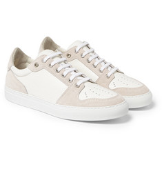 AMI - Suede and Textured-Leather Sneakers