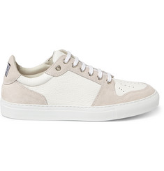 AMI Suede and Textured-Leather Sneakers