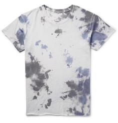 The Elder Statesman Tie-Dyed Cashmere and Silk-Blend T-Shirt