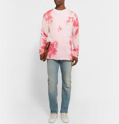 The Elder Statesman Tie-Dyed Knitted Cashmere and Silk-Blend T-Shirt