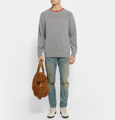 The Elder Statesman Speckle Sea Slub Cashmere Sweater