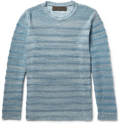 The Elder Statesman - Striped Mélange Cashmere Sweater