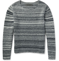 The Elder Statesman - Striped Marled Cashmere Sweater