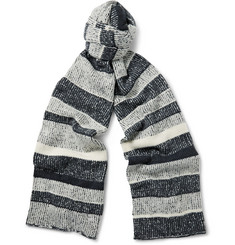 The Elder Statesman - Striped Cashmere Scarf