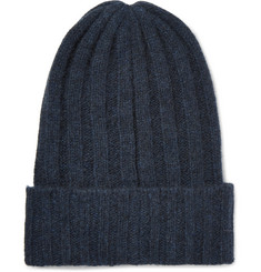 The Elder Statesman - Bunny Echo Ribbed Cashmere Beanie