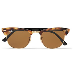 Ray-Ban - Clubmaster Tortoiseshell Acetate and Metal Sunglasses
