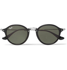 Ray-Ban - Round-Frame Acetate and Metal Sunglasses