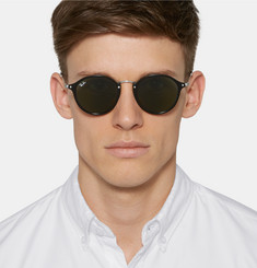 Ray-Ban Round-Frame Acetate and Metal Sunglasses