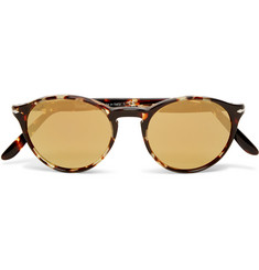 Persol Round-Frame Acetate Mirrored Sunglasses