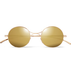 Maison Margiela + Mykita Round-Frame Metal Mirrored Sunglasses