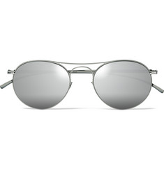 Maison Margiela - + Mykita Aviator-Style Metal Mirrored Sunglasses