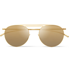 Maison Margiela + Mykita Round-Frame Mirrored Metal Sunglasses