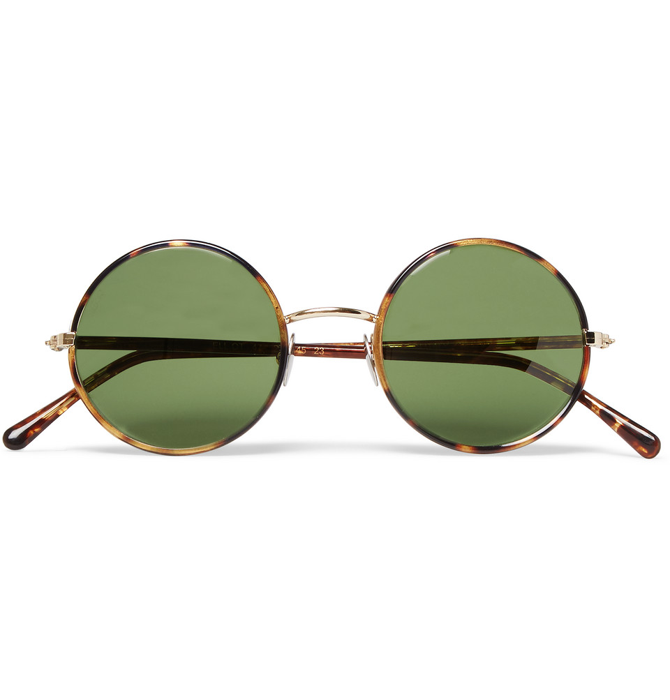 Elliot Round Frame Tortoiseshell Acetate Sunglasses Brown