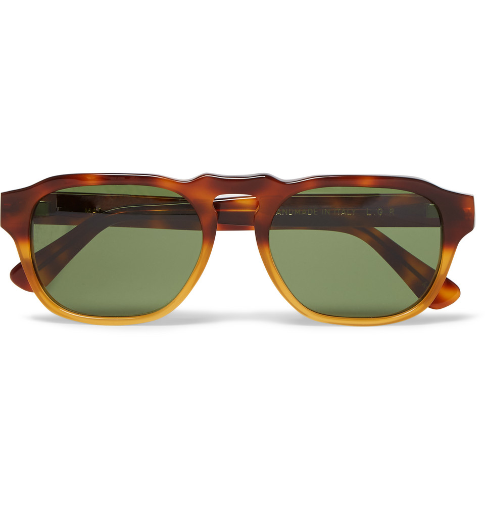 Madagascar Round Frame Tortoiseshell Acetate Sunglasses Brown