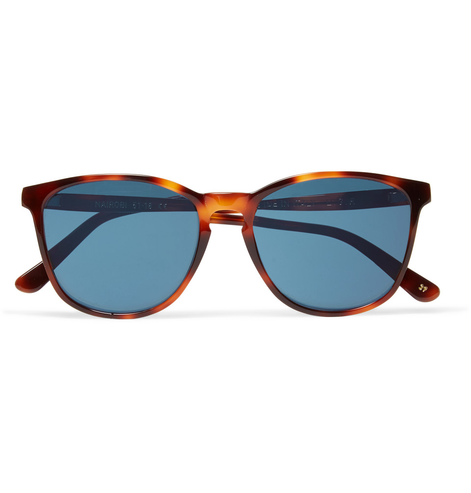 Nairobi Square Frame Tortoiseshell Acetate Polarised Sunglasses Brown