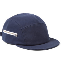 Larose - Five-Panel Zip-Detailed Cotton Cap