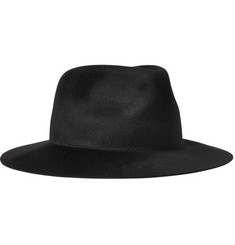 Larose - Noir Zip-Detailed Rabbit-Felt Fedora