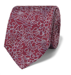 Turnbull & Asser - Embroidered Silk-Jacquard Tie