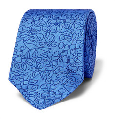 Turnbull & Asser Embroidered Silk-Jacquard Tie