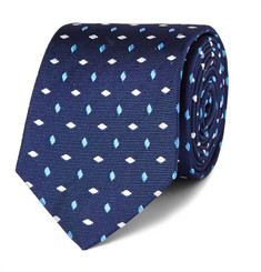 Turnbull & Asser Embroidered Silk-Faille Tie