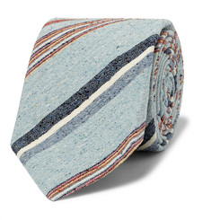 Turnbull & Asser Striped Slub Silk Tie