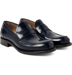 O'Keeffe - Cambridge Polished-Leather Penny Loafers