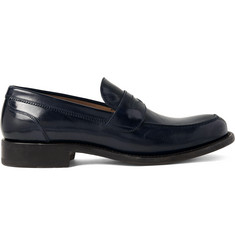 O'Keeffe Cambridge Polished-Leather Penny Loafers