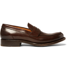 O'Keeffe Cambridge Polished-Leather Loafers
