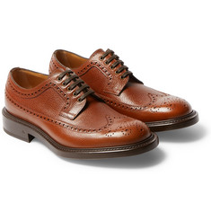 O'Keeffe - Felix Pebble-Grain Leather Wingtip Brogues