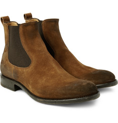O'Keeffe - Bristol Distressed Suede Chelsea Boots