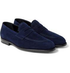 O'Keeffe - Samuel Suede Penny Loafers