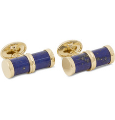 Trianon 18-Karat Gold Lapis Cufflinks