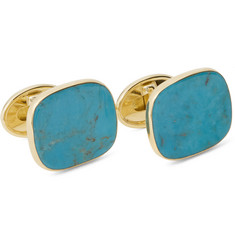 Trianon 18-Karat Gold and Turquoise Cufflinks