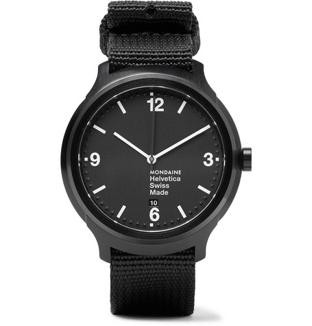 mondaine male 188971 mondaine helvetica no1 bold watch black