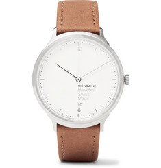 Mondaine Helvetica No1 Light Stainless Steel and Leather Watch