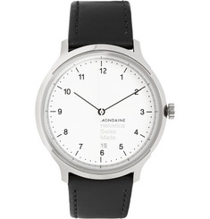 Mondaine Helvetica No1 Stainless Steel and Leather Watch