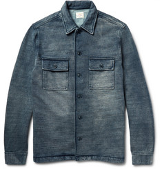 Faherty Indigo-Dyed Cotton Jacket