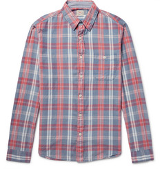 Faherty Seaview Checked Slub Cotton Shirt