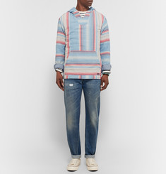 Faherty - Baja Striped Cotton-Twill Hoodie