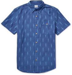 Faherty Seasons Slim-Fit Ikat-Print Cotton Shirt