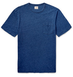 Faherty - Indigo-Dyed Cotton-Jersey T-Shirt