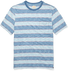 Faherty Striped Knitted Cotton T-Shirt
