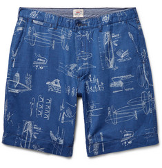Faherty - Printed Cotton and Linen-Blend Shorts