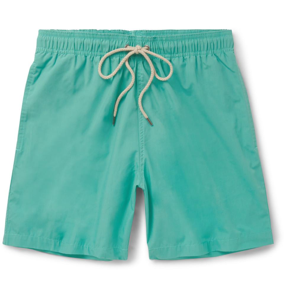 Beacon Mid-length Swim Shorts - Turquoise