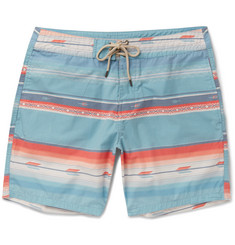 Faherty - Mid-Length Striped Swim Shorts